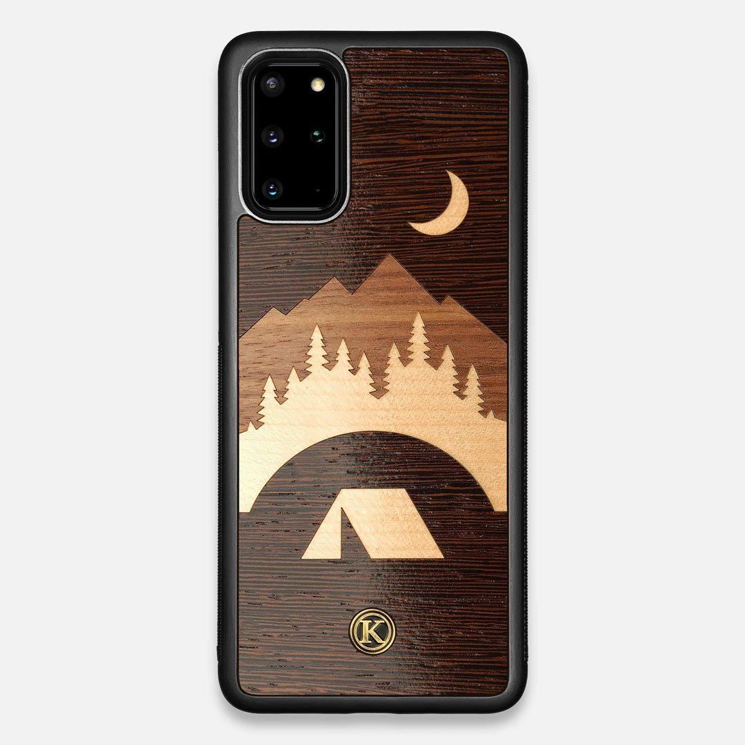 Front view of the Wilderness Wenge Wood Galaxy S20+ Case by Keyway Designs
