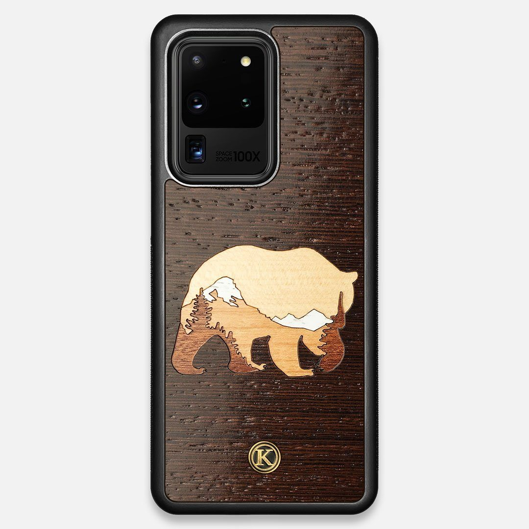 TPU/PC Sides of the Bear Mountain Wood Galaxy S20 Ultra Case by Keyway Designs