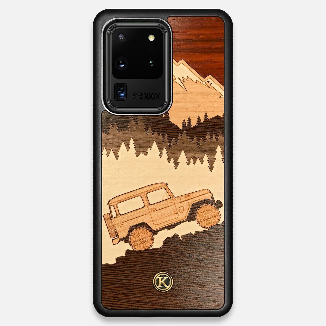 TPU/PC Sides of the Off-Road Wood Galaxy S20 Ultra Case by Keyway Designs