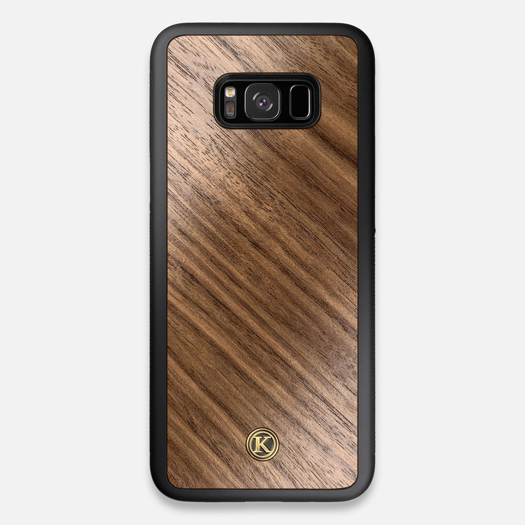Front view of the Walnut Pure Minimalist Wood Galaxy S8+ Case by Keyway Designs