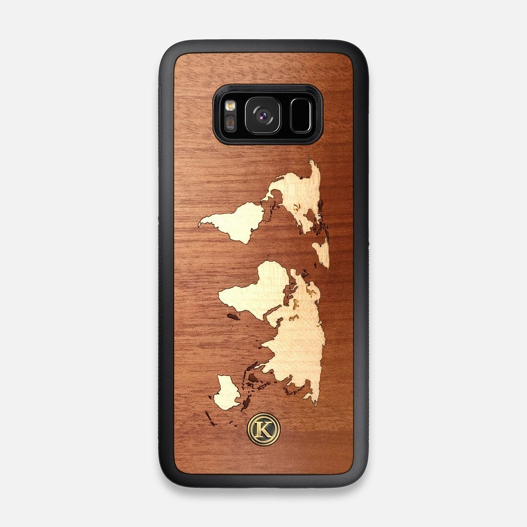 Front view of the Atlas Sapele Wood Galaxy S8 Case by Keyway Designs