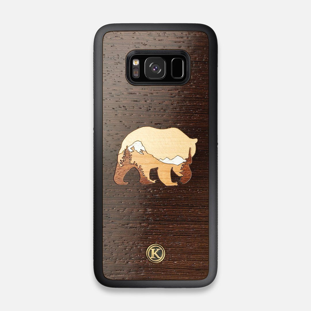 TPU/PC Sides of the Bear Mountain Wood Galaxy S8 Case by Keyway Designs