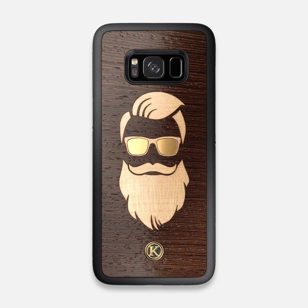 Front view of the The Blonde Beard Wenge Wood Galaxy S8 Case by Keyway Designs