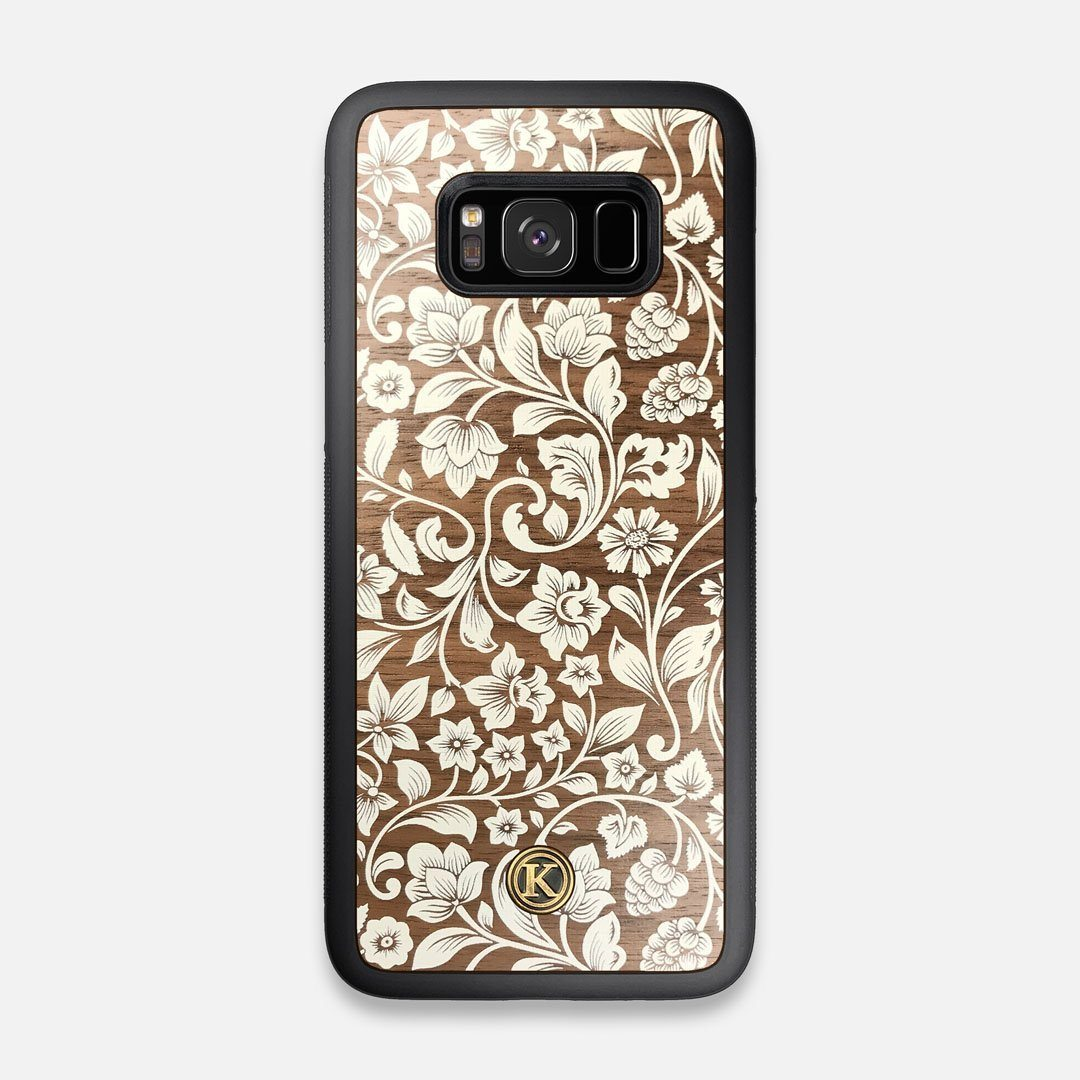 Front view of the Blossom Whitewash Wood Galaxy S8 Case by Keyway Designs