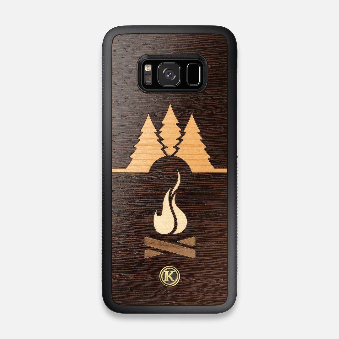 Front view of the Nomad Campsite Wood Galaxy S8 Case by Keyway Designs