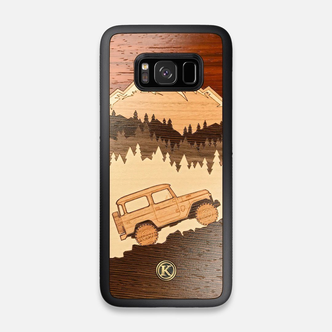 TPU/PC Sides of the Off-Road Wood Galaxy S8 Case by Keyway Designs