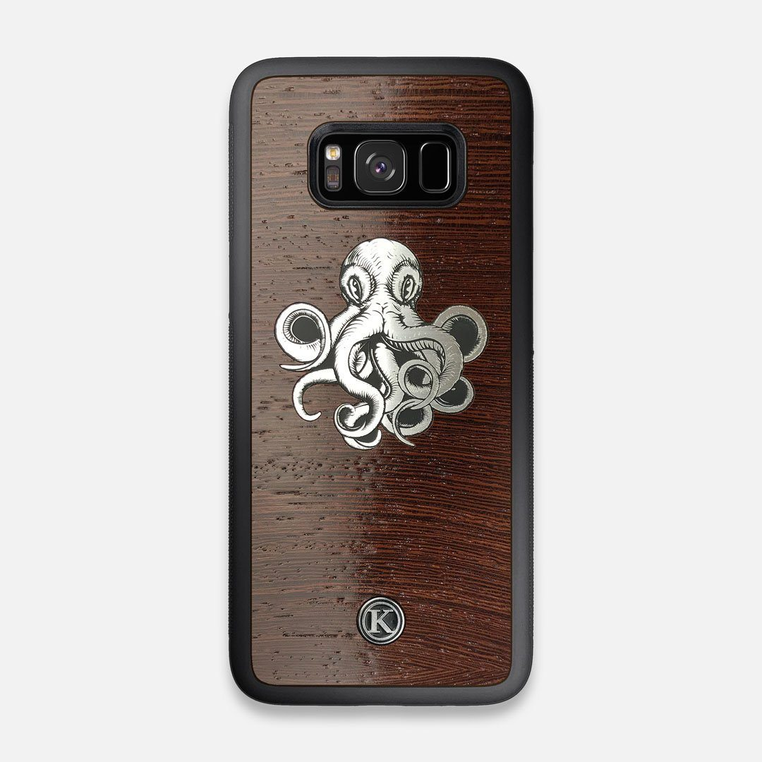 Front view of the Prize Kraken Wenge Wood Galaxy S8 Case by Keyway Designs