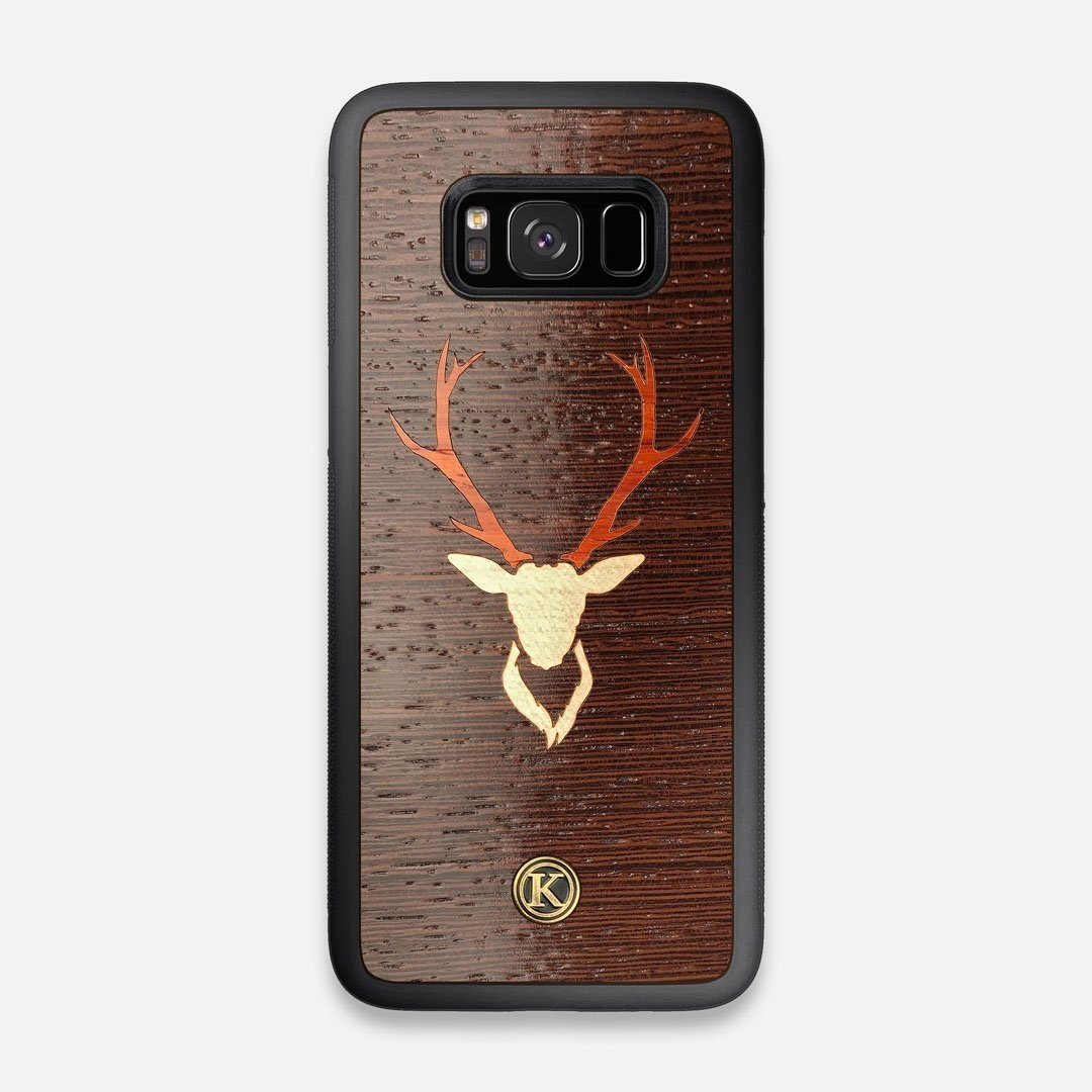 Front view of the Stag Wenge Wood Galaxy S8 Case by Keyway Designs