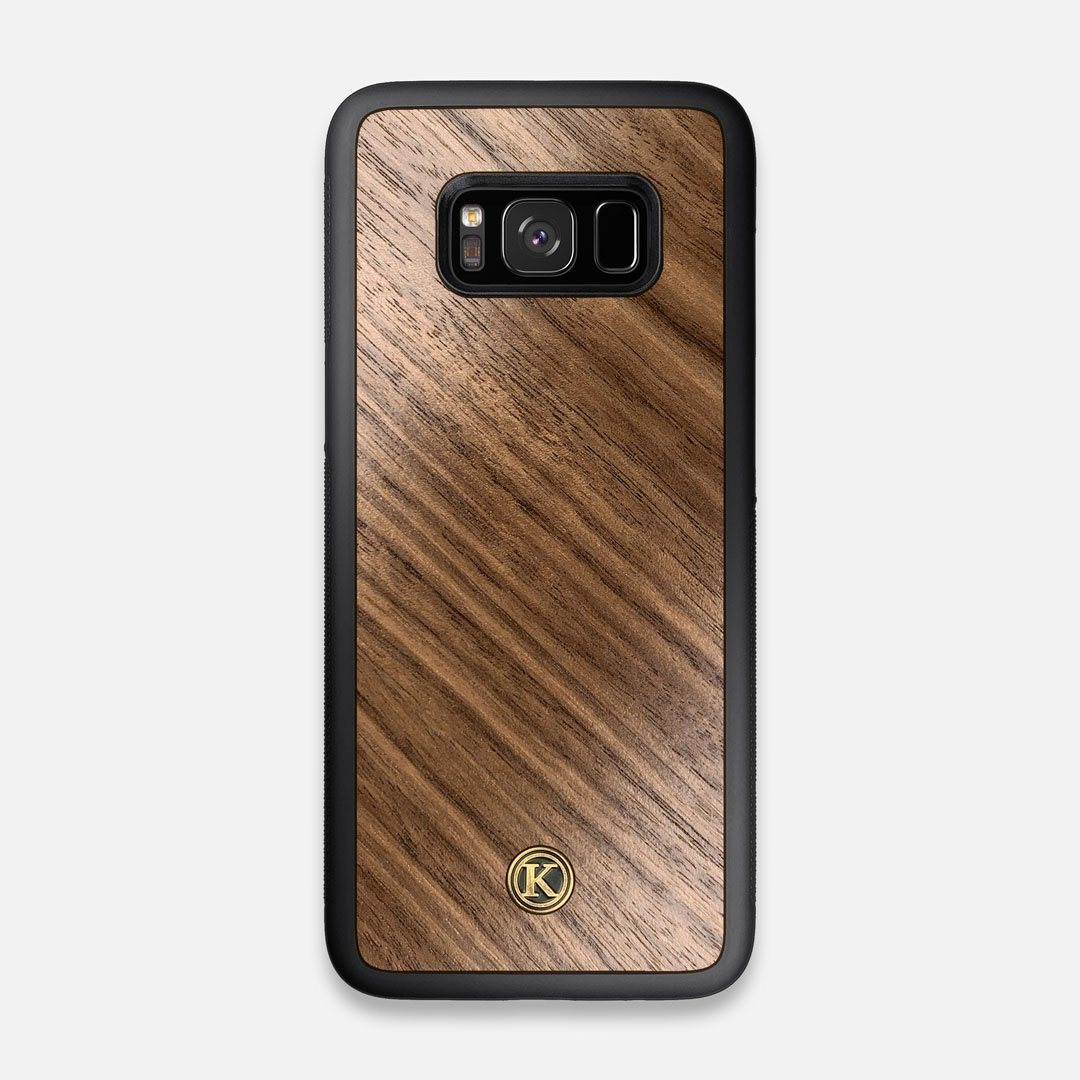 Front view of the Walnut Pure Minimalist Wood Galaxy S8 Case by Keyway Designs