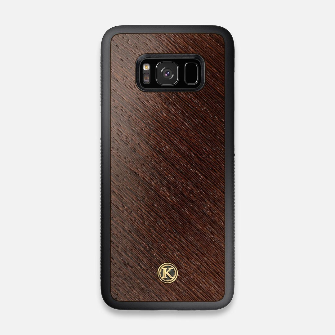 Front view of the Wenge Pure Minimalist Wood Galaxy S8 Case by Keyway Designs