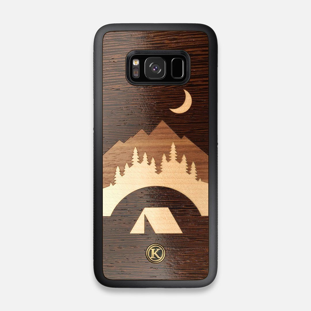 Front view of the Wilderness Wenge Wood Galaxy S8 Case by Keyway Designs