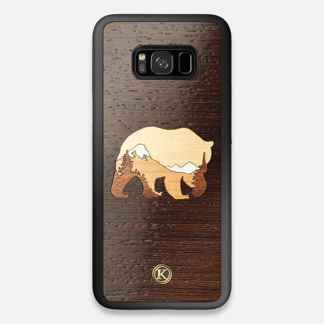 TPU/PC Sides of the Bear Mountain Wood Galaxy S8+ Case by Keyway Designs