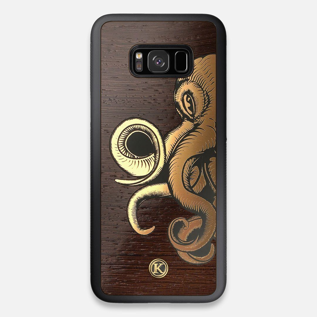TPU/PC Sides of the classic Camera, silver metallic and wood Galaxy S8+ Case by Keyway Designs