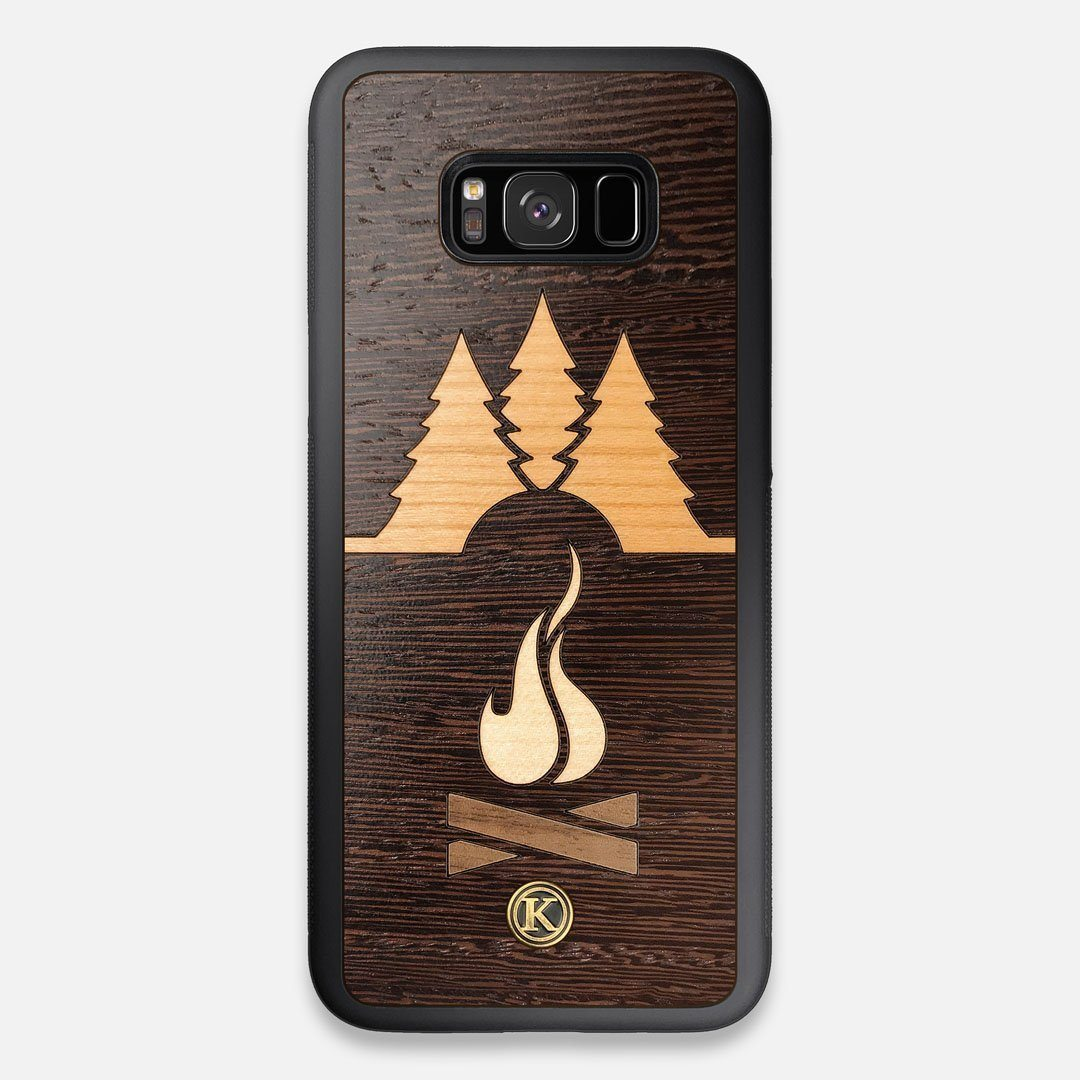 Front view of the Nomad Campsite Wood Galaxy S8+ Case by Keyway Designs