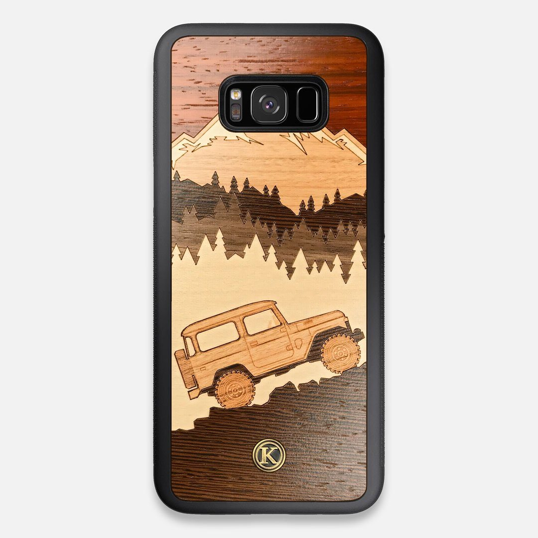 TPU/PC Sides of the Off-Road Wood Galaxy S8+ Case by Keyway Designs