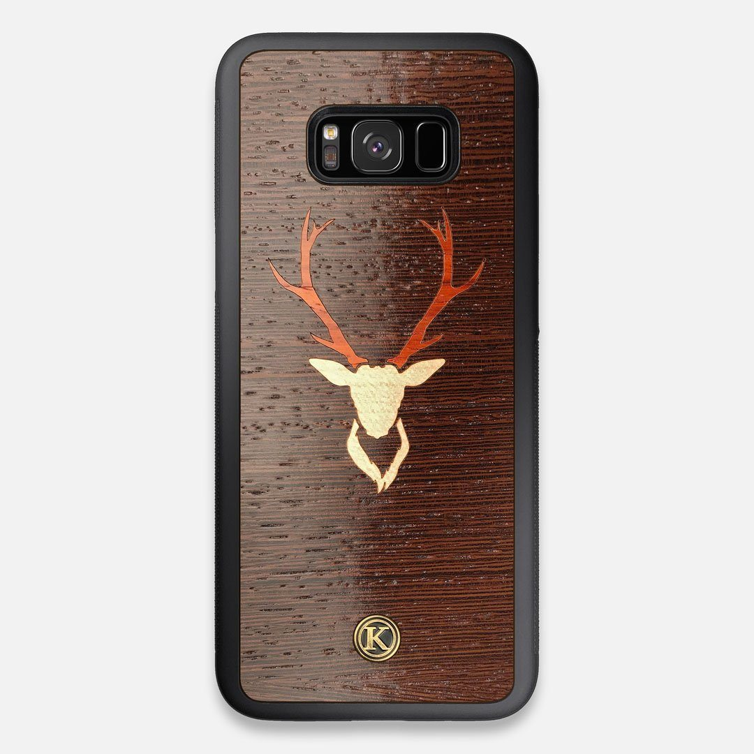 Front view of the Stag Wenge Wood Galaxy S8+ Case by Keyway Designs