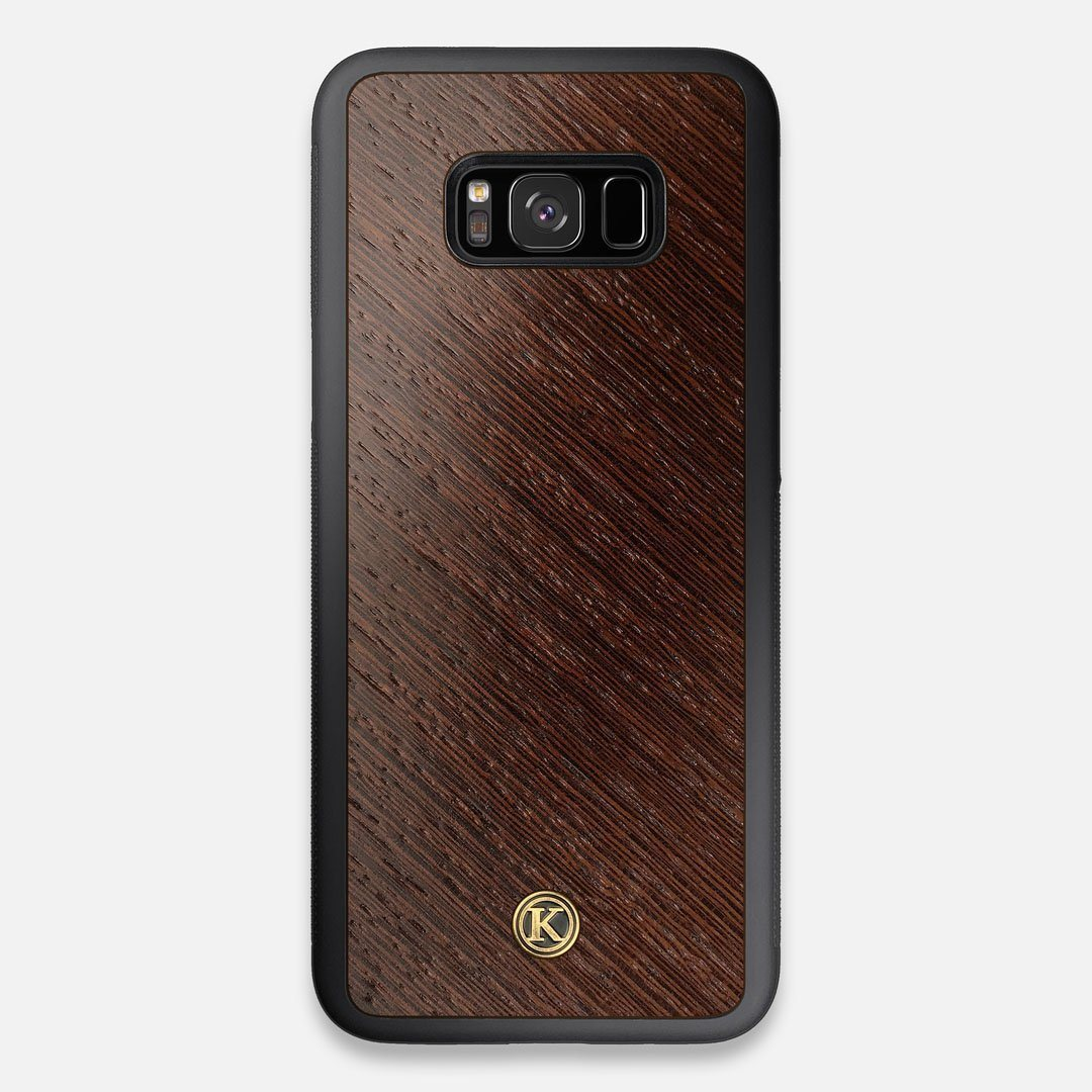 Front view of the Wenge Pure Minimalist Wood Galaxy S8+ Case by Keyway Designs