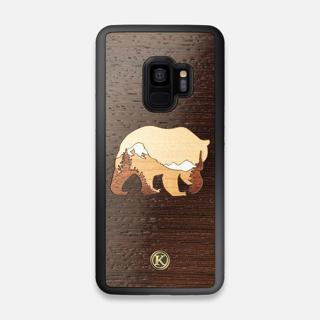 TPU/PC Sides of the Bear Mountain Wood Galaxy S9 Case by Keyway Designs