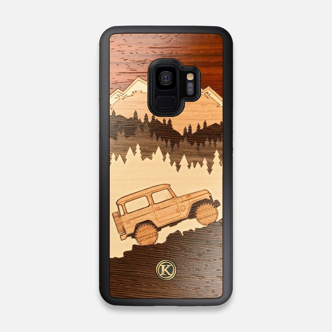 TPU/PC Sides of the Off-Road Wood Galaxy S9 Case by Keyway Designs