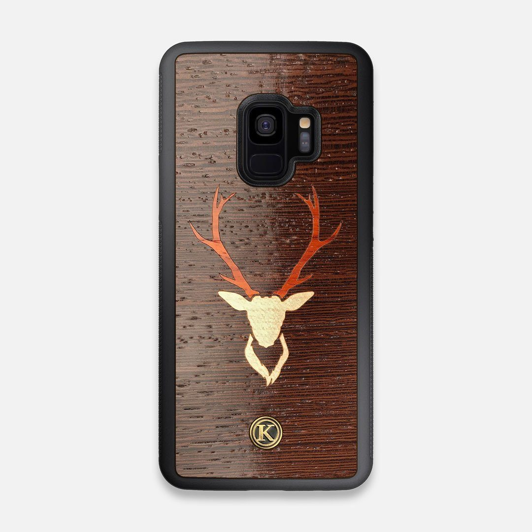 Front view of the Stag Wenge Wood Galaxy S9 Case by Keyway Designs