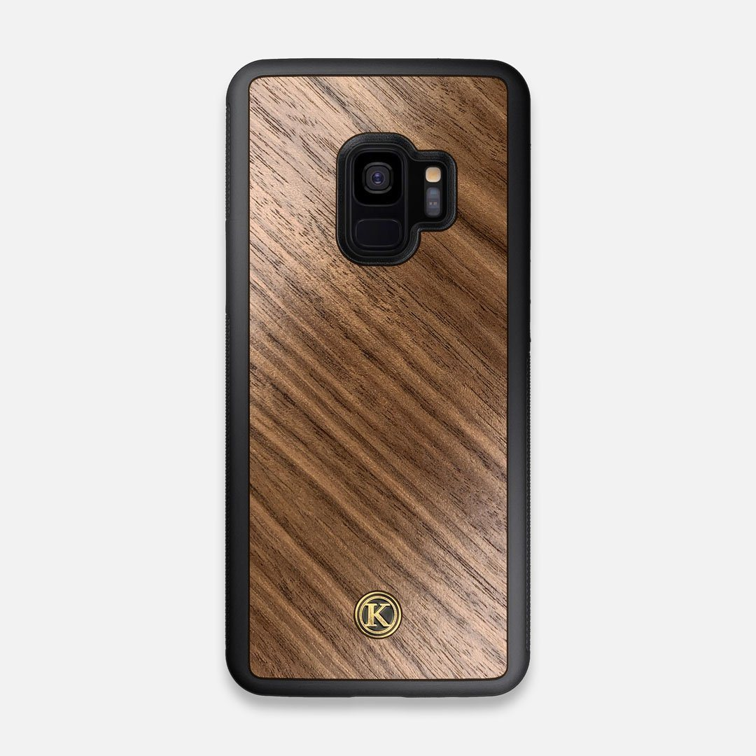 Front view of the Walnut Pure Minimalist Wood Galaxy S9 Case by Keyway Designs
