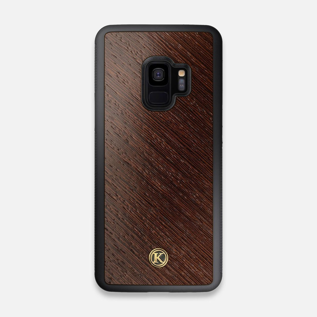 Front view of the Wenge Pure Minimalist Wood Galaxy S9 Case by Keyway Designs