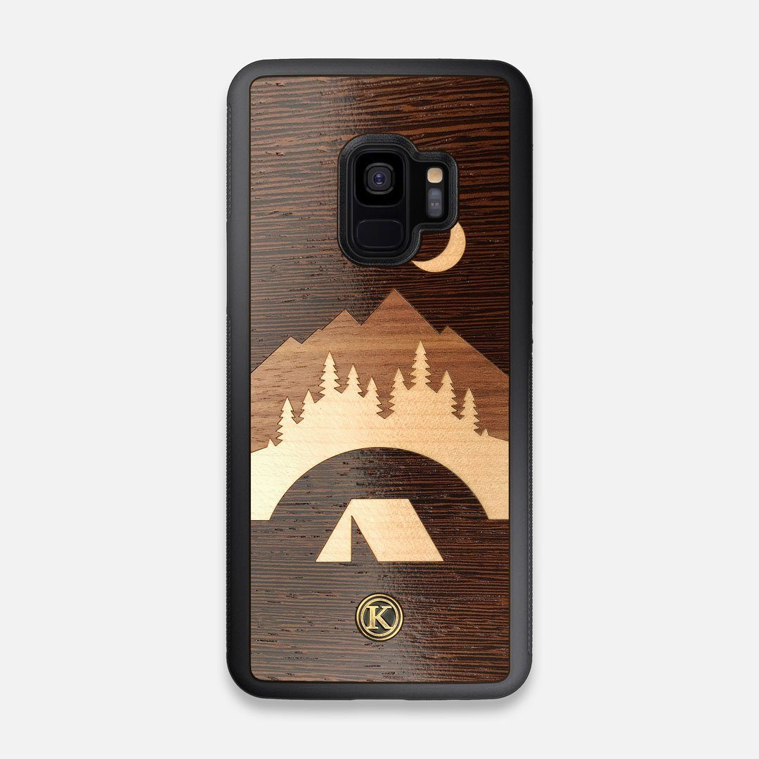 Front view of the Wilderness Wenge Wood Galaxy S9 Case by Keyway Designs