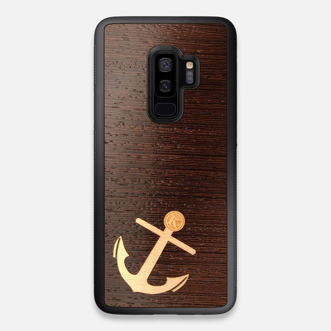 Front view of the Wilderness Wenge Wood Galaxy S9+ Case by Keyway Designs