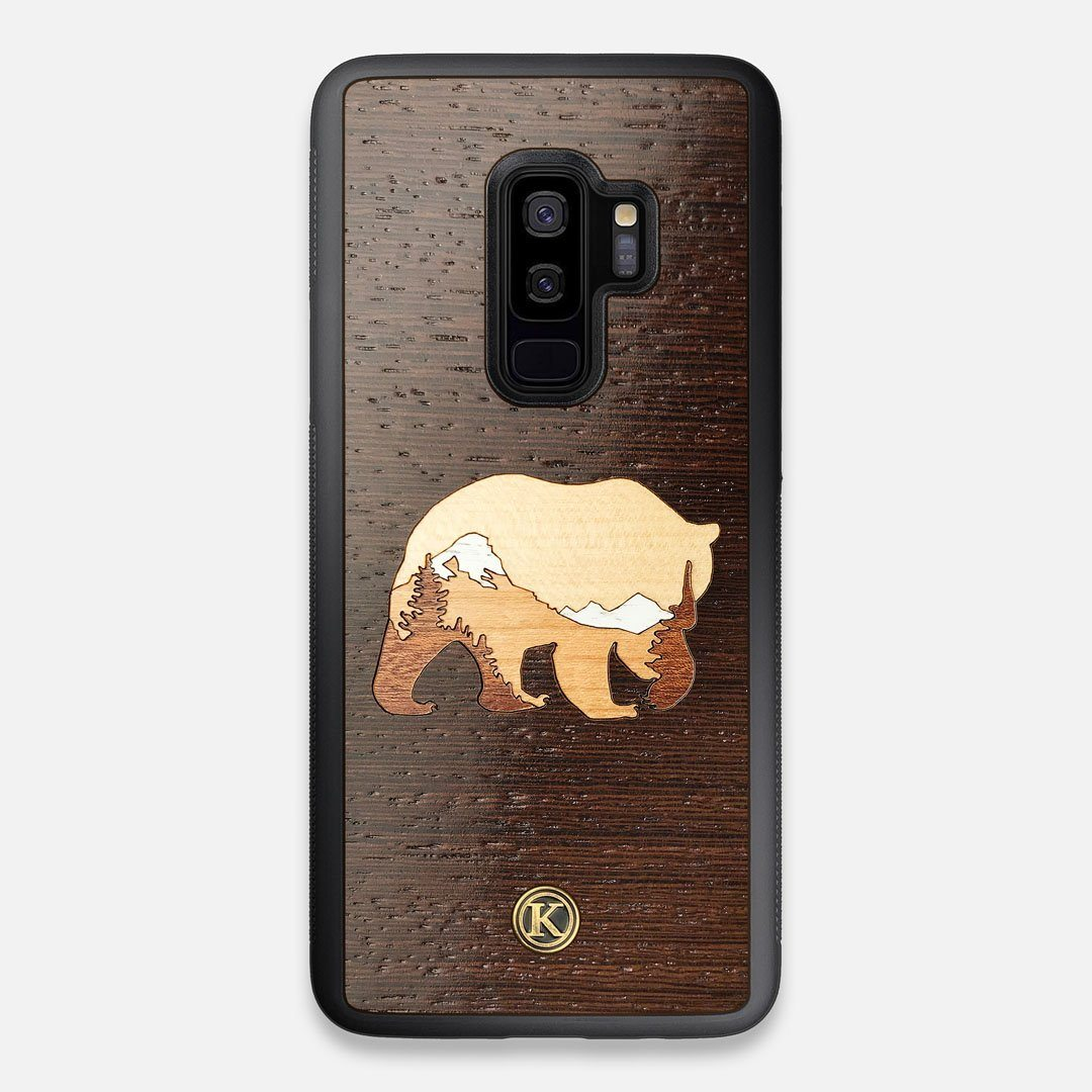 TPU/PC Sides of the Bear Mountain Wood Galaxy S9+ Case by Keyway Designs