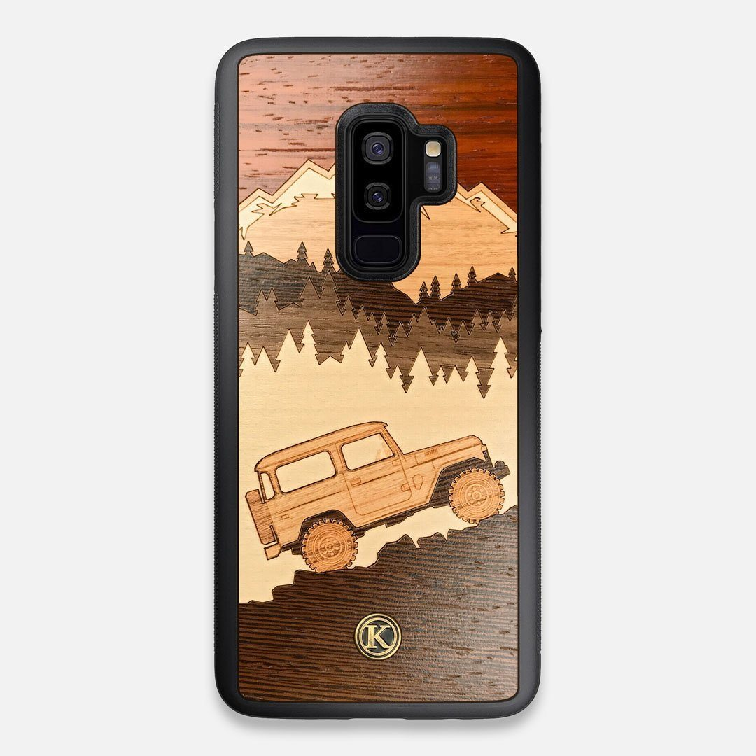 TPU/PC Sides of the Off-Road Wood Galaxy S9+ Case by Keyway Designs