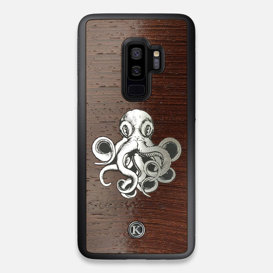 Front view of the Prize Kraken Wenge Wood Galaxy S9+ Case by Keyway Designs