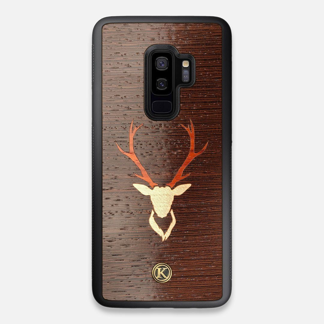 Front view of the Stag Wenge Wood Galaxy S9+ Case by Keyway Designs