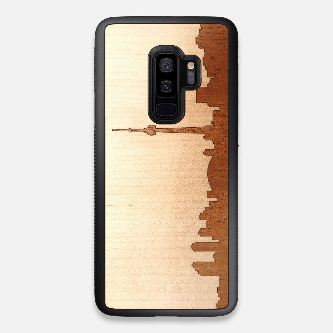 Front view of the Toro By Orozco Design Wenge Wood Galaxy S9+ Case by Keyway Designs