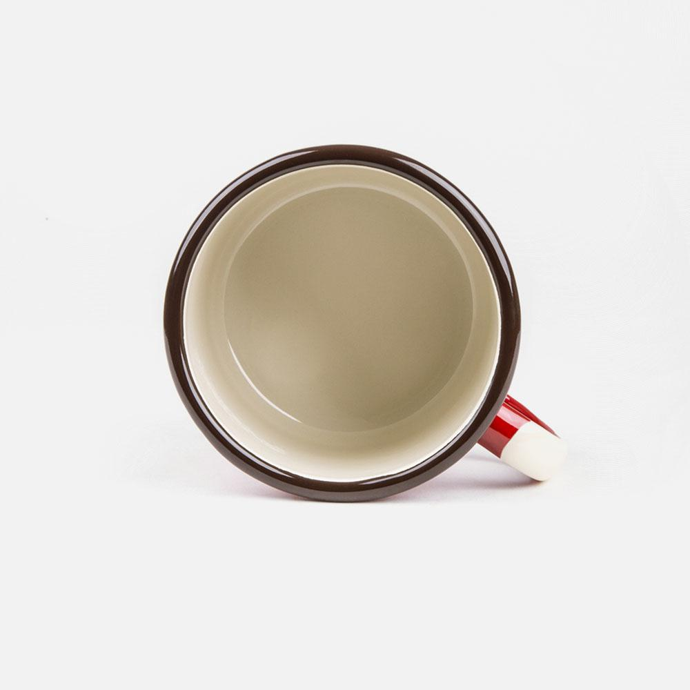 KEYWAY | Emalco - Grand Canyon Bellied Enamel Mug, Handcrafted by Artisans in Poland, Inside View