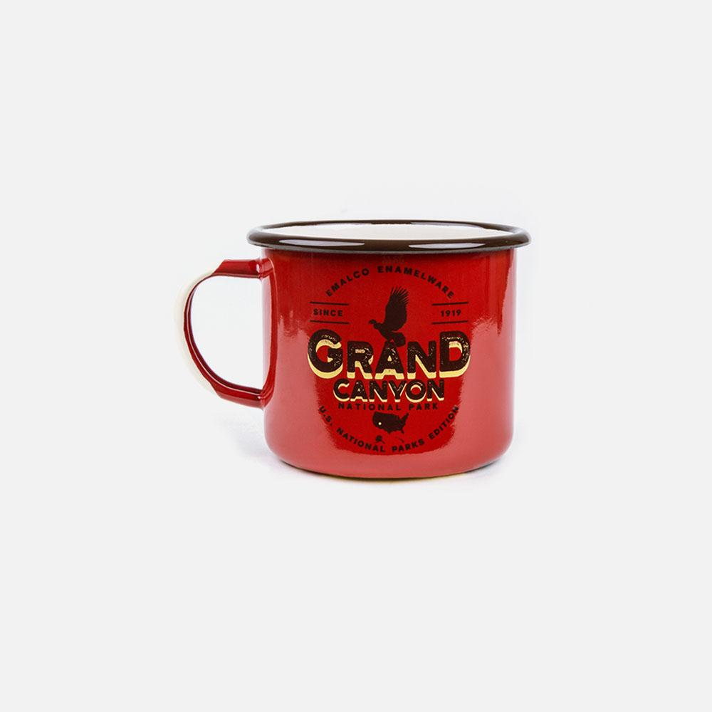 KEYWAY | Emalco - Grand Canyon Large Enamel Mug, Handcrafted by Artisans in Poland, Front View
