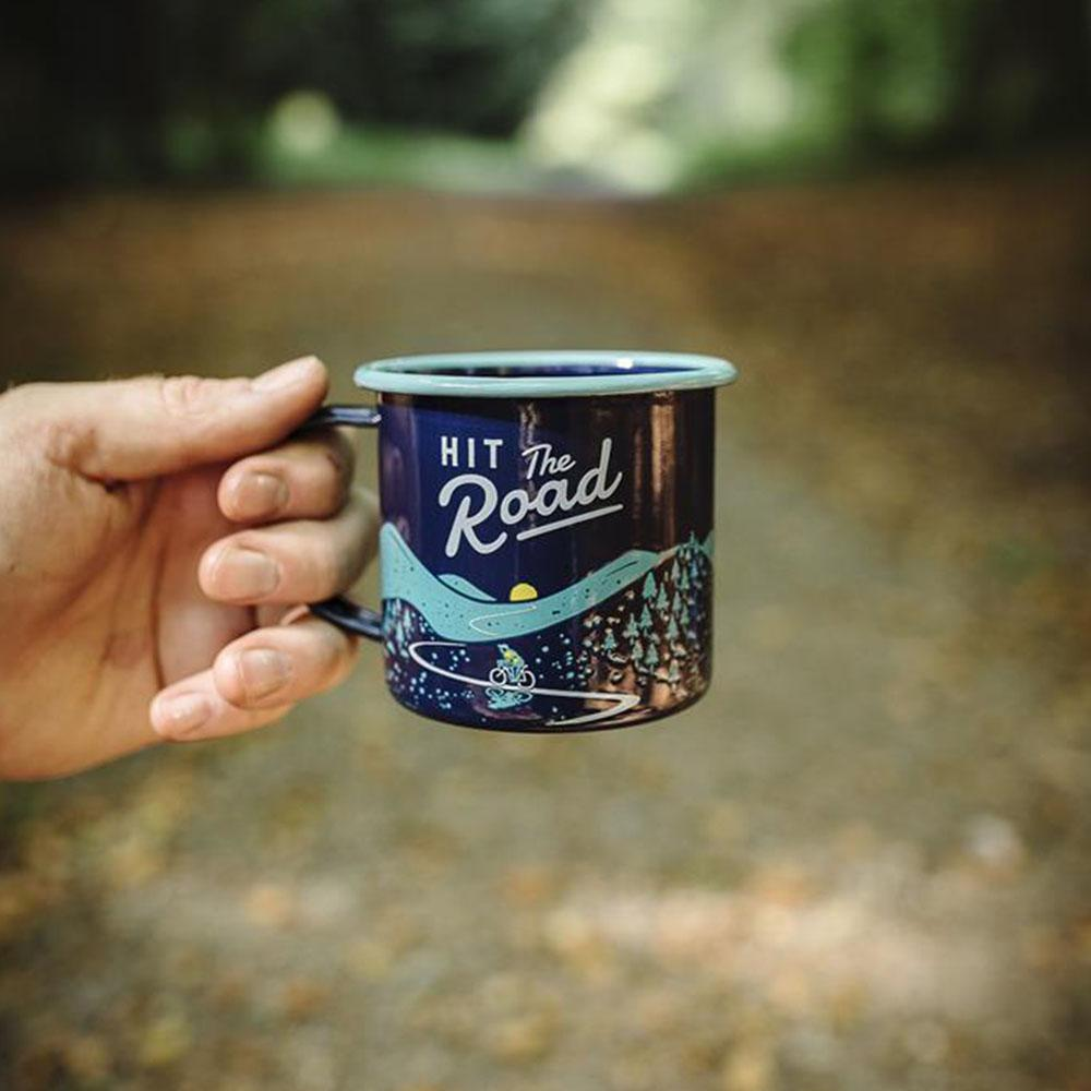 Wild+Wolf - Hit the Road Mug by the campsite