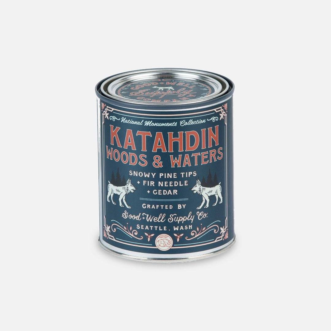 Keyway brings The Katahdin Woods & Waters National Monument Candle from Good & Well Supply Co.