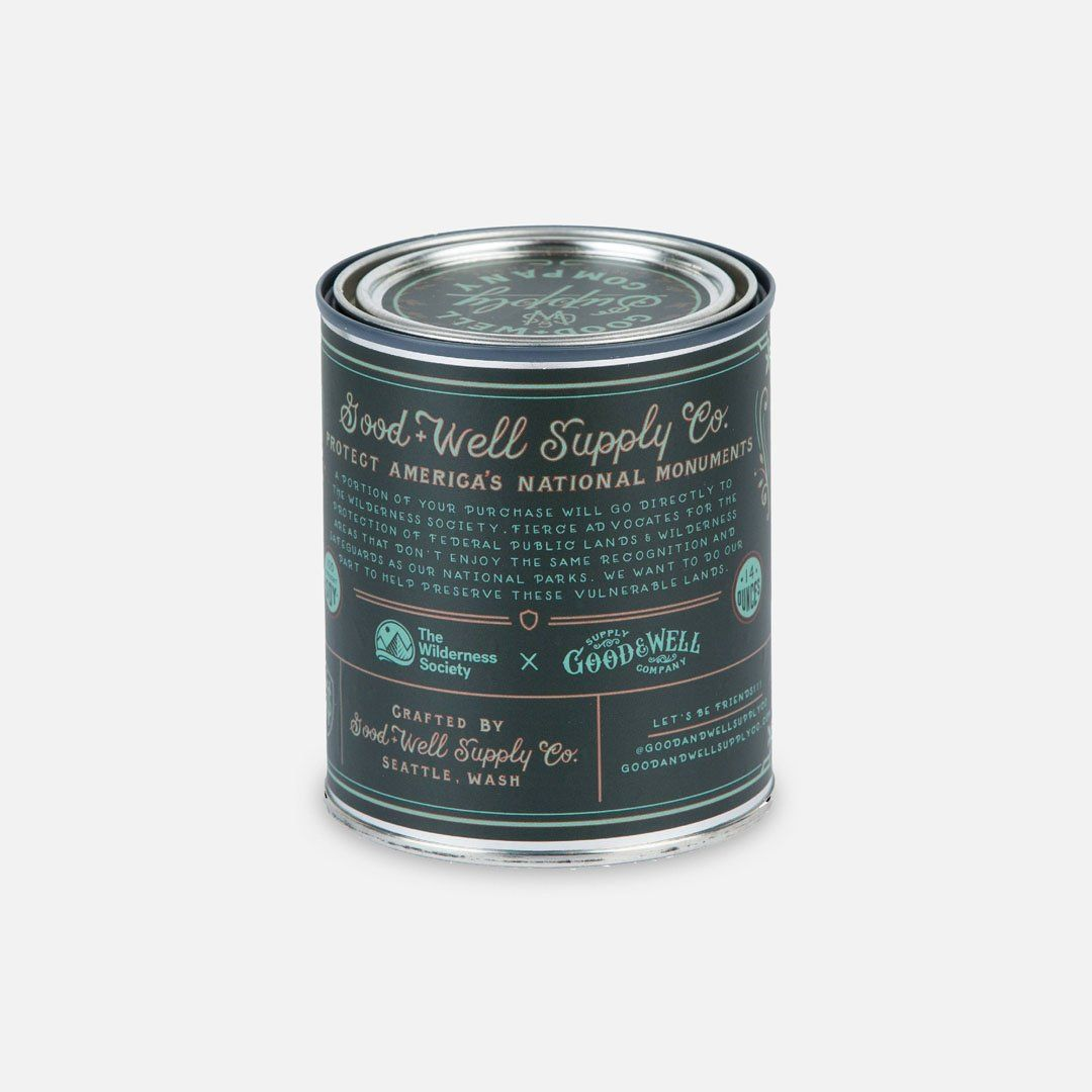 Back Panel - The Statue of Liberty National Monument Candle from Good & Well Supply Co.