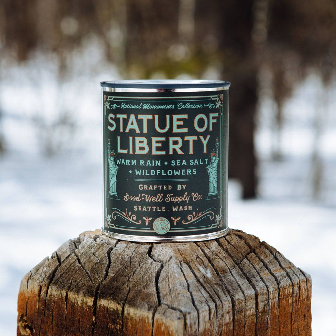The Statue of Liberty National Monument Candle from Good & Well Supply Co. in the Wild.