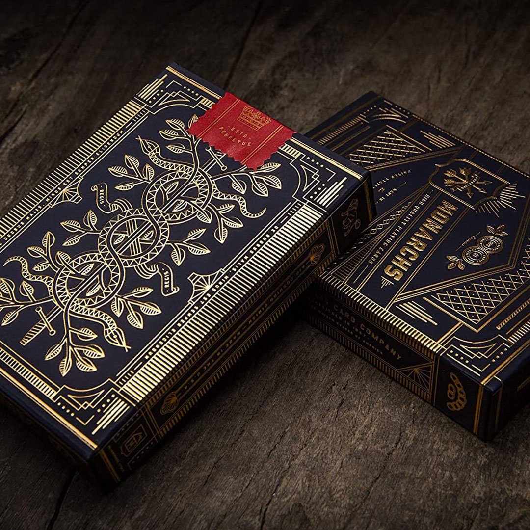 KEYWAY | Theory 11 - Monarchs Premium Playing Cards Detailed card box prints front and back