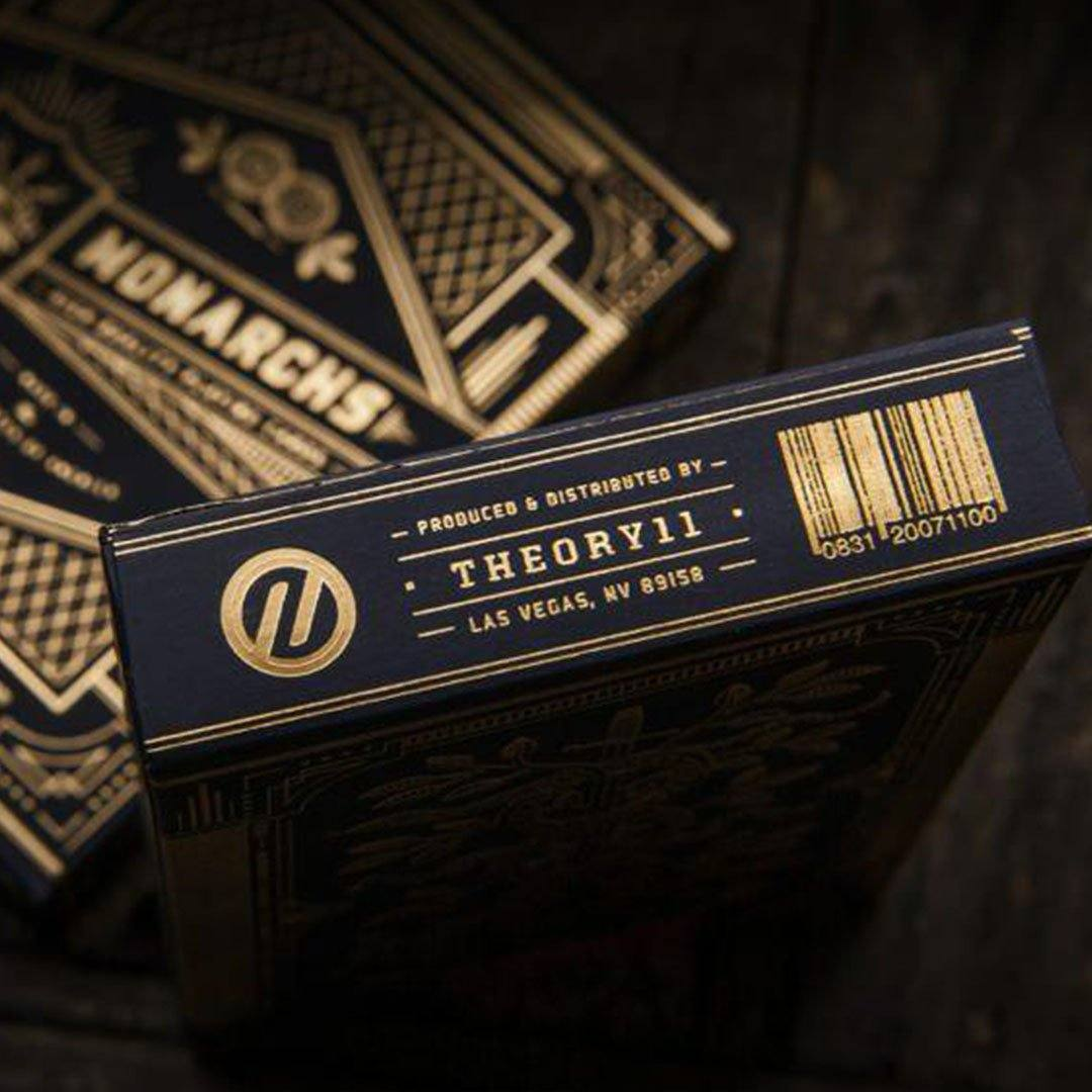 KEYWAY | Theory 11 - Monarchs Premium Playing Cards close-up of card box bottom