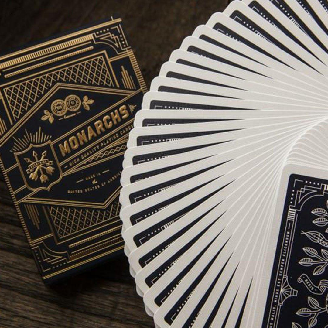KEYWAY | Theory 11 - Monarchs Premium Playing Cards close-up flourish
