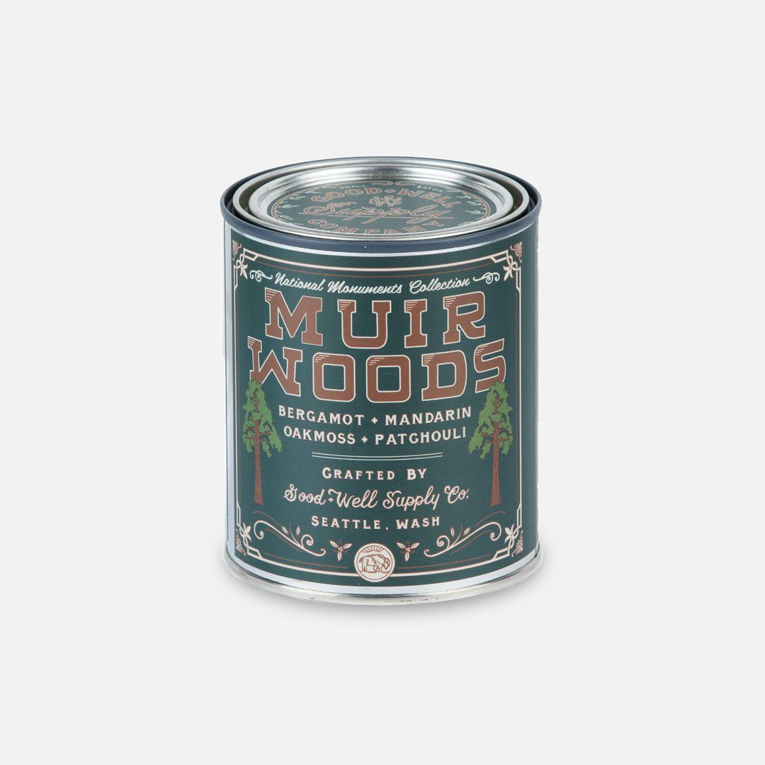 Keyway brings The Muir Woods National Monument Candle from Good & Well Supply Co.
