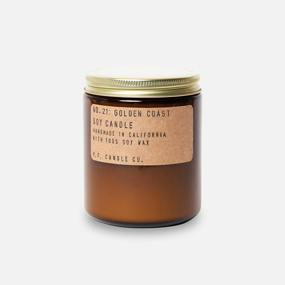 P.F. Candle - No.21: Golden Coast Soy Wax Jar Candle Header Shot