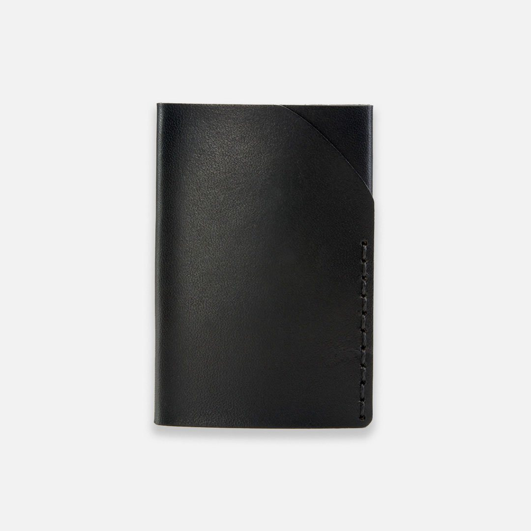 Ezra Arthur - No.2 Wallet in Jet Black Horween Leather, Handcrafted in the USA