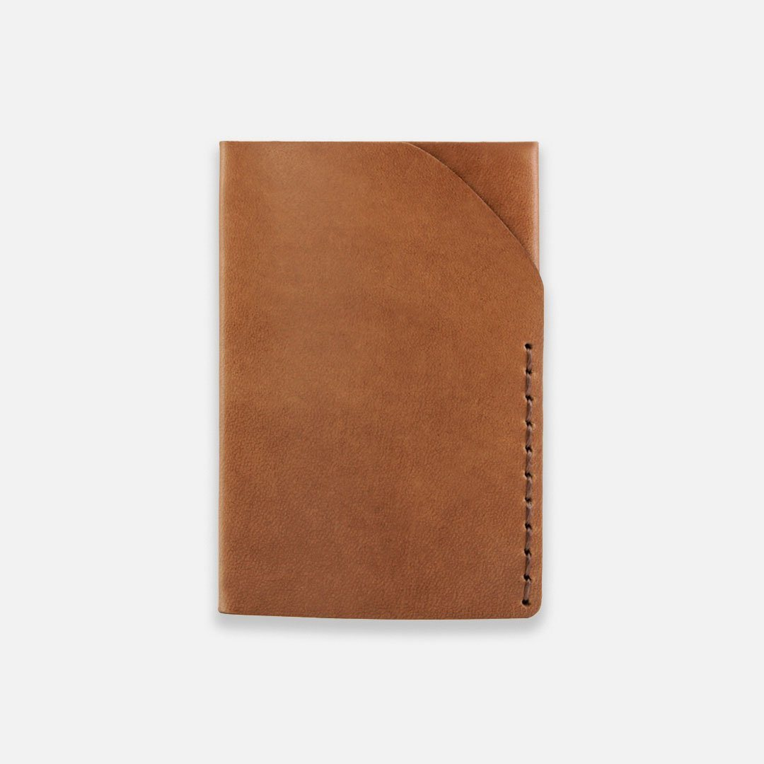 Ezra Arthur - No.2 Wallet in Whiskey Brown Horween Leather, Handcrafted in the USA