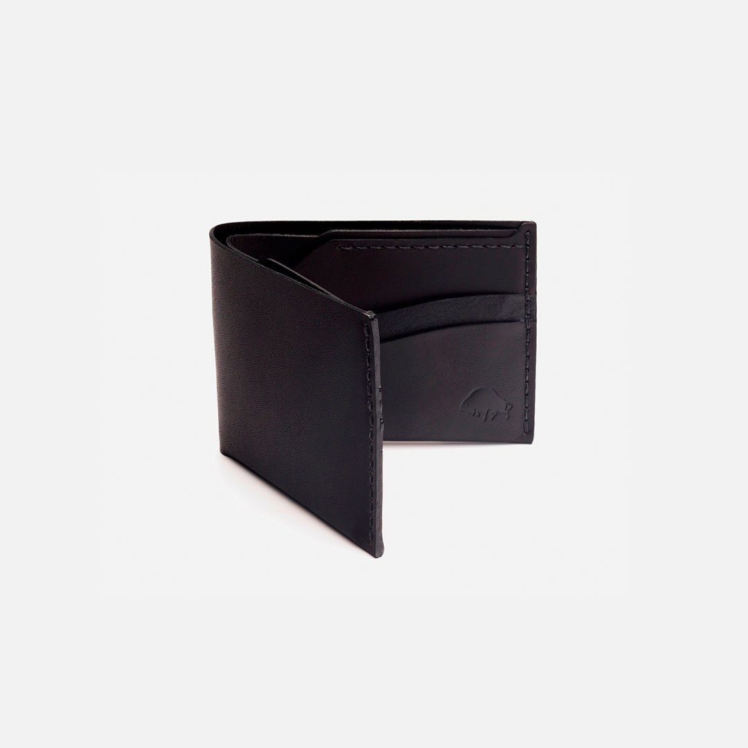 Ezra Arthur - No.6 Wallet in Jet Black Horween Leather, Handcrafted in the USA