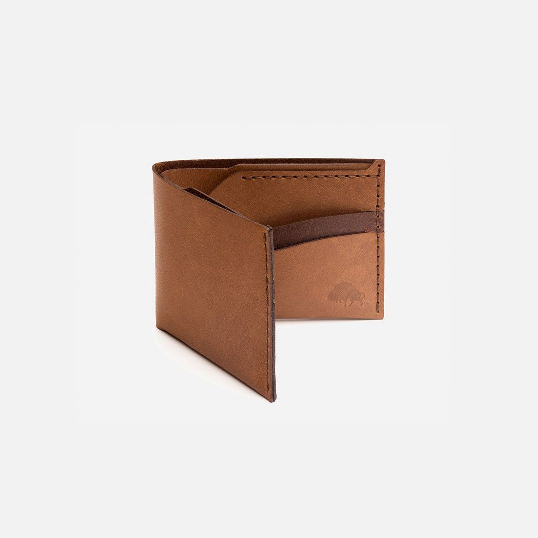 Ezra Arthur - No.6 Wallet in Whiskey Brown Horween Leather, Handcrafted in the USA