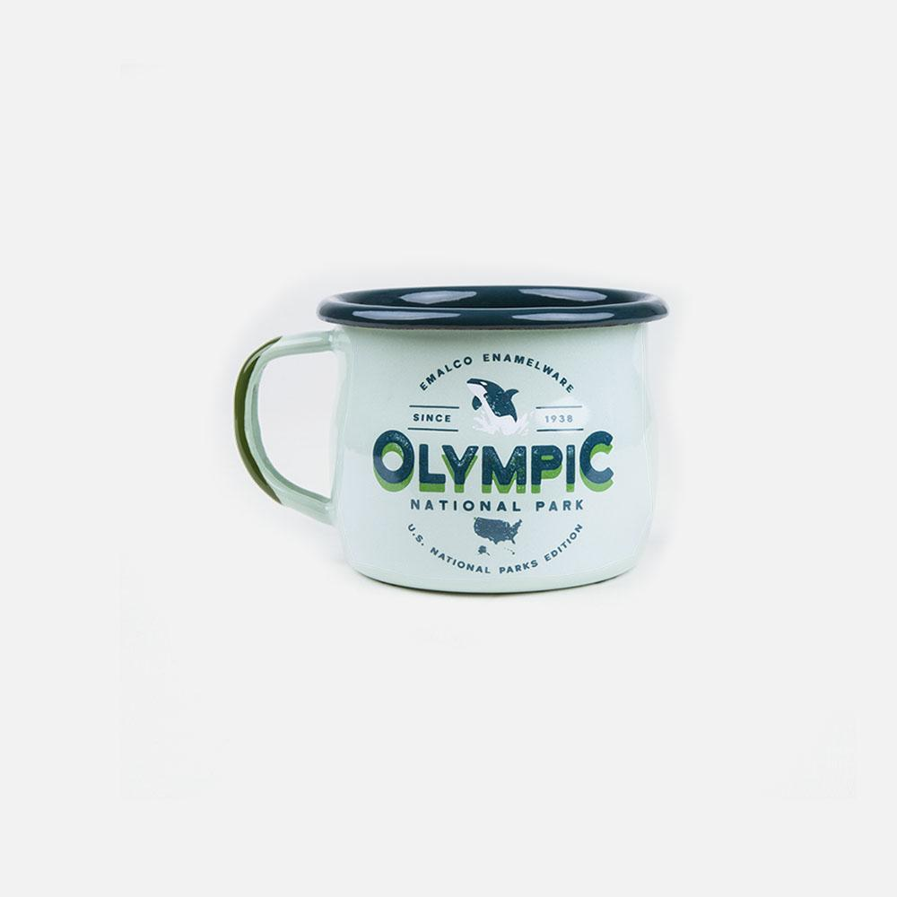 KEYWAY | Emalco - Olympic Bellied Enamel Mug, Handcrafted by Artisans in Poland, Front View
