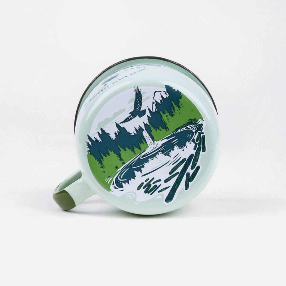KEYWAY | Emalco - Olympic Bellied Enamel Mug, Handcrafted by Artisans in Poland, Bottom Print View